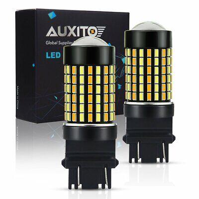 2X 3157 3156 3457A 4157NA Switchback White Amber Turn Signal Parking LED Bulbs K (Neon Run Orlando)
