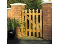 Palisade Garden Gate with ironmongery kit (T hinges & latch)