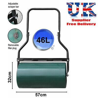 New Heavy Duty Steel Garden Grass Lawn Roller Green Water Sand Filled 46 Litres