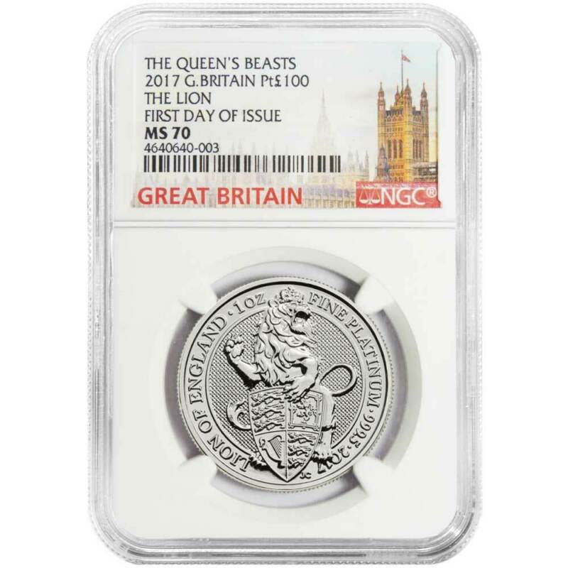 2017 U.K. 100 Pound Platinum Queen