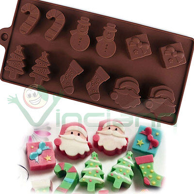 Stampo natalizio forma Babbo Natale Albero Pupazzo cioccolato cioccolatini cake