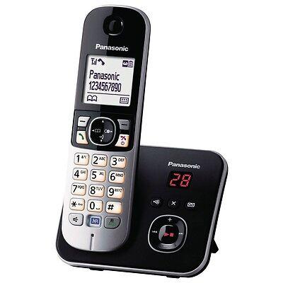 Panasonic KX-TG6821GB DECT Telefono cordless con AB, funzione mani libere, Nero