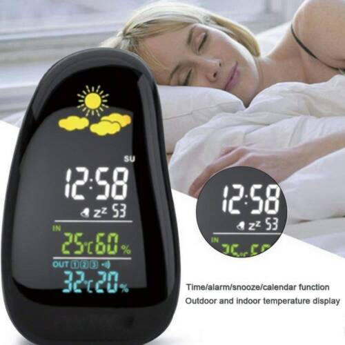 Cobblestone Digital Wireless Weather Station Forecast Clock Colorful Display