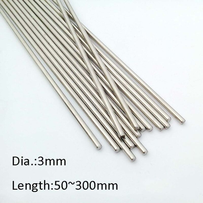10x 50-160mm Dia. 3mm Stainless Steel Shaft Toy Car Gear Axle Wheel For DIY