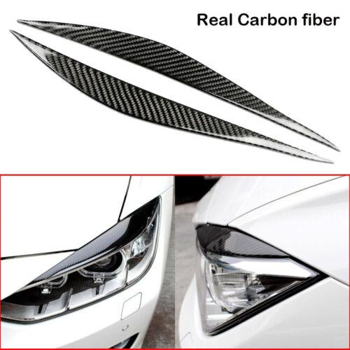 Carbon Fiber Eyebrow Eyelid Headlight Cover Trim for VW Passat B6 3C 2005-2010