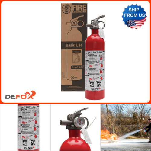 Fire Extinguisher 5-B:C Rated Disposable Dry Chemical Emergency Home Garage Safe