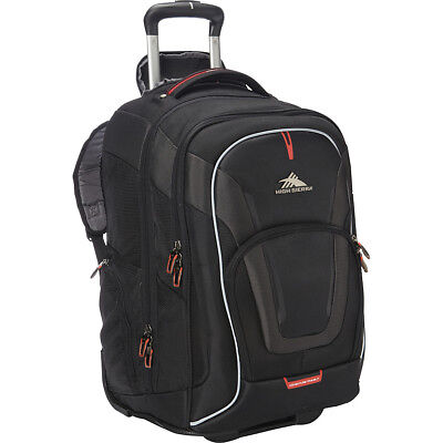High Sierra AT7 Wheeled Computer Backpack - Black Rolling Backpack NEW