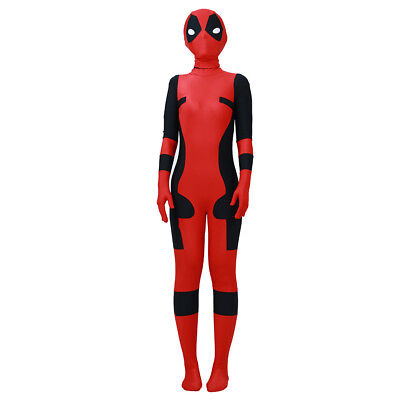 Kids Deadpool Movie Cosplay Halloween Costume Suit Mask Outfit Best Clothes