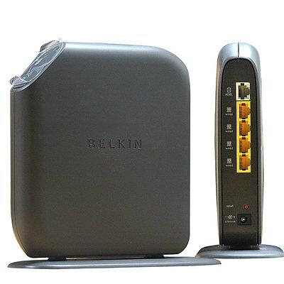Belkin Surf N300 Wireless ADSL Modem Router 300Mbps for Phoneline Connection UK