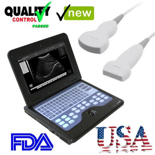Portable Ultrasound Scanner Machine Diagnostic System+Convex Probe+Linear Probe