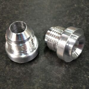 - 8 AN MALE ALUMINUM WELD ON FITTING BUNG MADE IN THE USA
