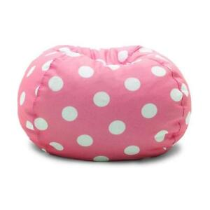 NEW Big Joe Classic Bean Bag Chair, Candy Pink Polka Dot Condtion: New, Candy Pink with White Polka Dots