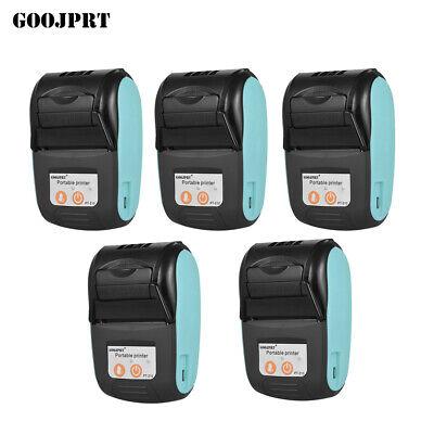 5pcs Goojprt Portable Handheld 58mm Usb Bt Wireless Thermal Receipt Printer