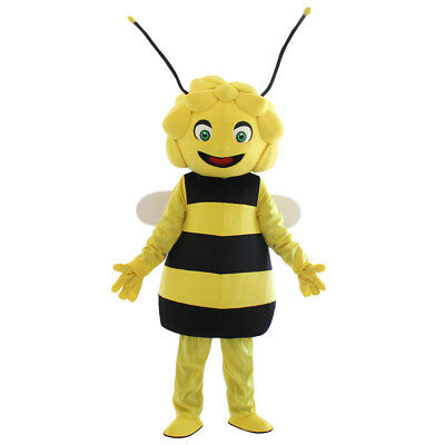 2018 High Quality Maya The Bee Mascot Maya Bee Mascot Costume With Free Shipping