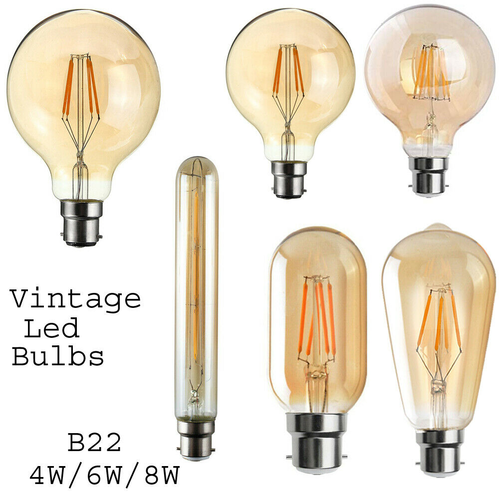 B22 Vintage Decorative Industrial Retro Edison Bayonet LED Bulb Base Light Bulb