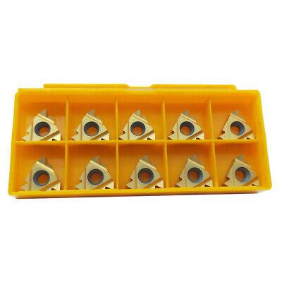 10pcs Ag60 16 Er 38 Carbide Threading Insert For External Turning Tool Holder