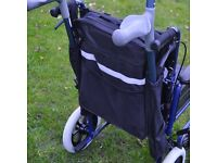Black Mobility Scooter Backrest Bag With Crutch Sleeves Disability Aid.......Brand New