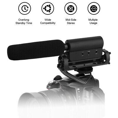 2020 NEW Camera Microphone External Video Recording MIC For Nikon Canon DSLR HT