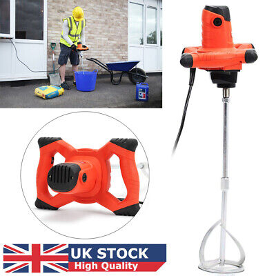 Paddle Mixer Drill Electric Cement Stirrer Plaster Mixing Plastering Whisk 1500W