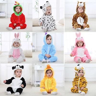 Unisex Kids Baby Animal Kigurumi Pajamas Cosplay Sleepwear Costumes Jumpsuit New - Baby Animal Costumes