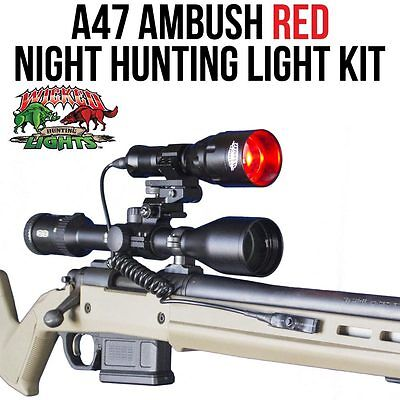 Wicked Lights A47 Ambush Red Night Hunting Light Kit for Coyotes, Foxes, Hogs - Nite Light Hunting Lights