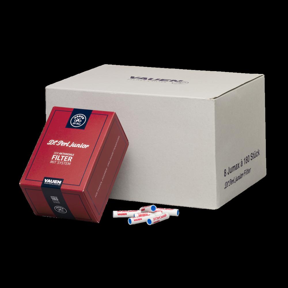 Pfeifenfilter Dr. Perl Junior Jumax Aktivkohle 9 mm 8 Schachteln à 180 Filter