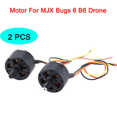 2PCS Main Motor CW CCW Engine Black For MJX B6 Bugs 6 2.4G RC Drone Replacement