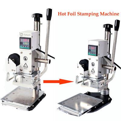 Hot Foil Embossing Stamping Leather Stamper Machine 1013cm 220v Manual Digital