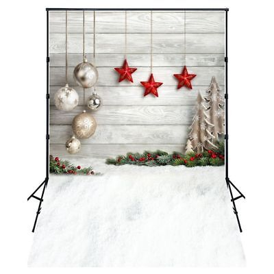 5X7FT Photo Background Photography Backdrop Props, Christmas Balls Stars U6X6