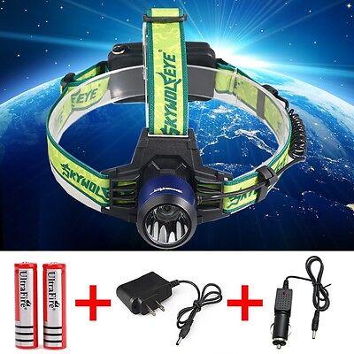 CREE 8000Lumen Headlamp XM-L T6 LED Headlight 18650 Flashlight +Battery*Charger