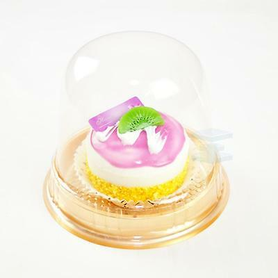 (Clear Pot with Dome Lid Container Plastic Carry Case Box For CupCake Muffins)