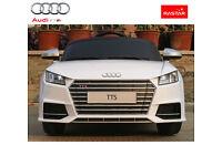 Rastar Licensed Audi TTS 12V Kids Ride on Car With Remote Control - White