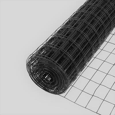 Everbilt Welded Wire Fence 4 Ft. X 50 Ft. Black 2 In X 3 In. Mesh Pvc Coated