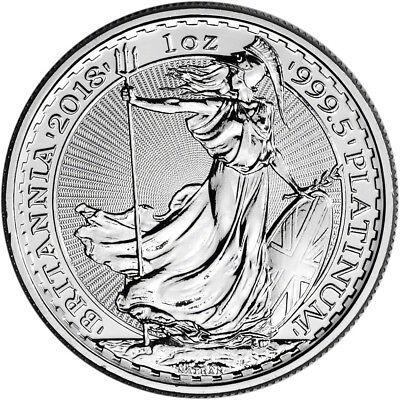 2018 Great Britain Platinum Britannia £100 - 1 oz - BU