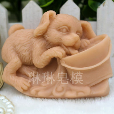 Lovely Dog Silicone Soap Candle Mold Soap Making Mould DIY Handmade Molds