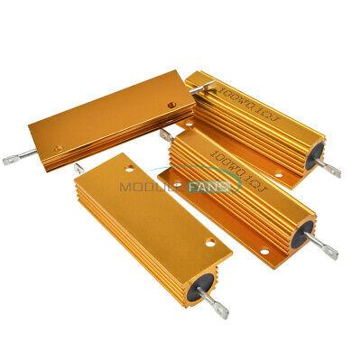 100w Watt Shell Power Aluminum Housed Case Wirewound Resistor 0.1-1000 Ohm
