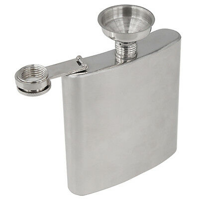 Stainless Steel Hip Liquor Whiskey Alcohol Pocket Flask Gift Box + Funnel New
