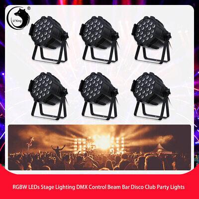6PCS 270W RGBW LEDs Stage Lighting DMX Vocie Control Beam Disco Club Party Light