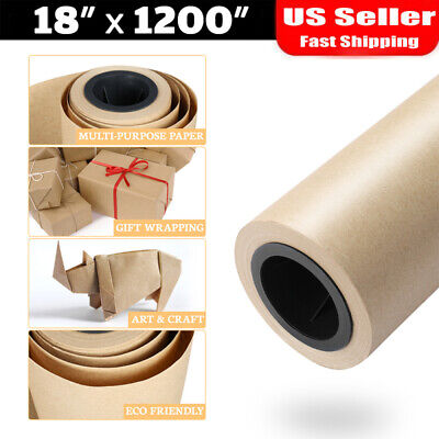 18 100ft Brown Kraft Paper Roll Shipping Wrapping Cushioning Void Fill