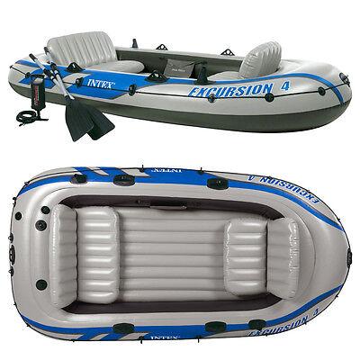 INTEX Excursion 4 Set Schlauchboot mit Paddel + Pumpe Angelboot für 4 Personen