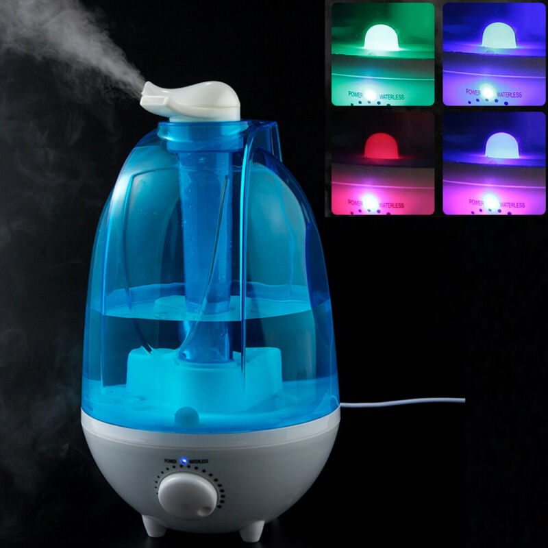 4L Quiet Ultrasonic Cool Mist Air Diffuser Humidifier w LED Night Light Bedroom