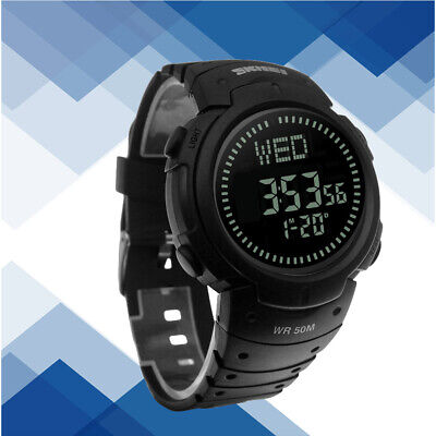 Digital Watches Humble Fashion Mens Led Digital Alarm Sport Watch Silicone Military Army Quartz Wristwatch Electronic Watch Fashion Gif Mens Watch Ou Complete In Specifications