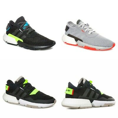 Mens adidas Originals Pod-S3.1 Trainers in Black & Grey. Boost cushioned