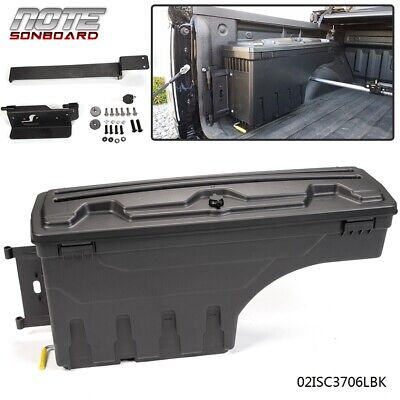 For 2002-2018 Ram 1500 2500 3500 ABS Truck Bed Storage Box Driver Side Black