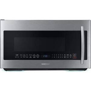 Samsung ME21K7010DS 2.1 cu. ft. Over the Range Power Grill Microwave Stainless (Store refurbished) ***READ***