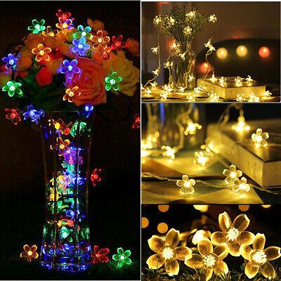 Kirschblüten-Blumen-LED-Schnur-Lichterketten für