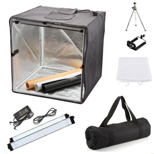 """40cm 16"""" Portable Photo Studio Box + 84 LED Light Tent Photo Video Lighting Cube"""