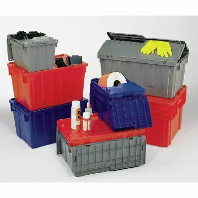 Orbis Grey Plastic FliPak® Stack-N-Nest Storage Tote With Lid - 22