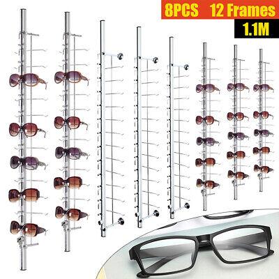12 Frames Glasses Eyeglasses Sunglasses Show Stand Holder Display Rack 8 Pieces