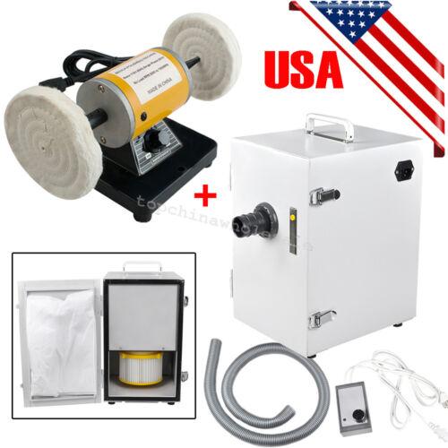 Dental Mini Polishing Polisher Equipment + Digital Dust Collector Vacuum Cleaner